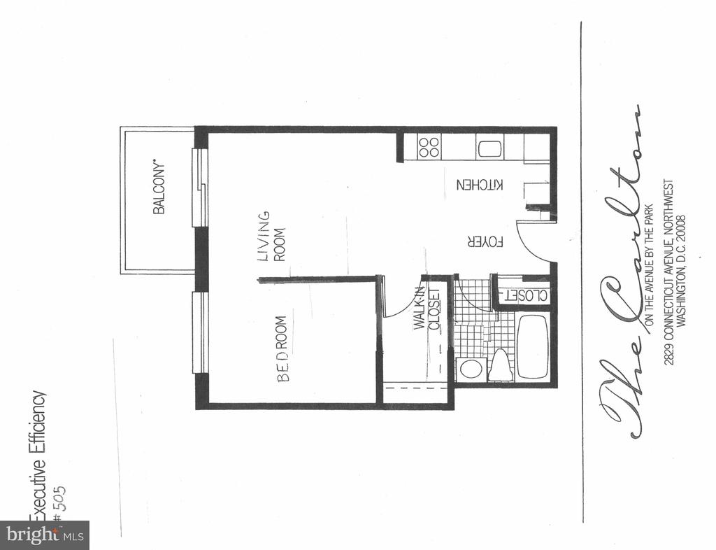 Floor plan of renovated unit - 2829 NW CONNECTICUT AVE NW #505, WASHINGTON