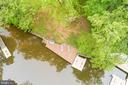 Aerial view of boat & jet ski dock - 6211 BRYN LN, MINERAL