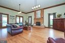 Family room overlooking the Blue Ridge Mountains - 345 GRIMSLEY RD, FLINT HILL