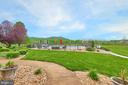 Garden Patio with a spectacular view - 345 GRIMSLEY RD, FLINT HILL