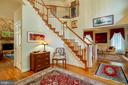 Staircase to Upper Level - Living Room to Right! - 12210 GLADE DR, FREDERICKSBURG