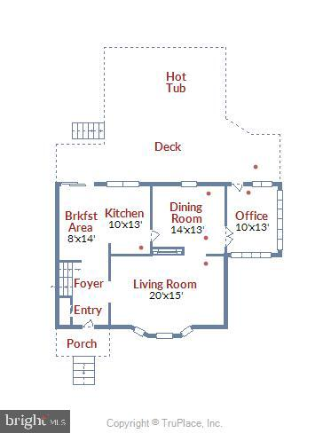 Main Level Floorplan - 1058 ULMSTEAD CIR, ARNOLD