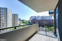 Balcony - 4620 N PARK AVE #1411E, CHEVY CHASE