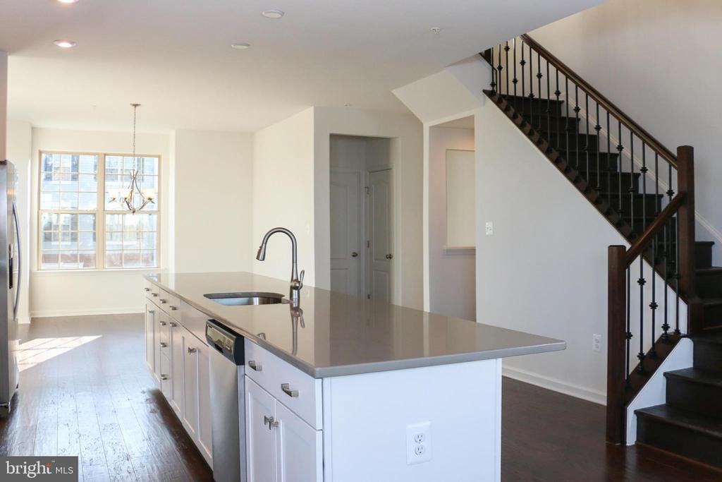 Stairs leading to upper level bedrooms & baths - 8479 BALD EAGLE LN, FREDERICK