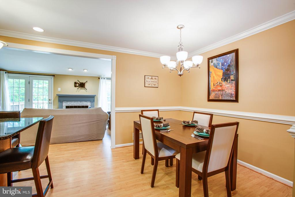 Dining Room Space off Kitchen - 10001 GRASS MARKET CT, FREDERICKSBURG