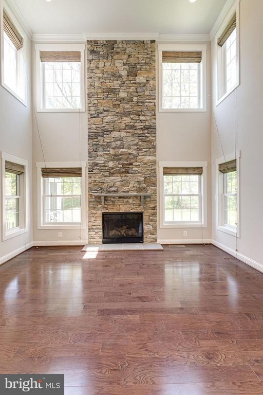 Floor to ceiling Stone Fireplace - 2050 ARCH DR, FALLS CHURCH