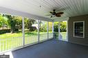 Screened Porch that opens to Major Backyard - 2050 ARCH DR, FALLS CHURCH