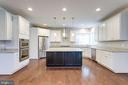 3 StainlessSteel Light Pendants Overhanging island - 2050 ARCH DR, FALLS CHURCH