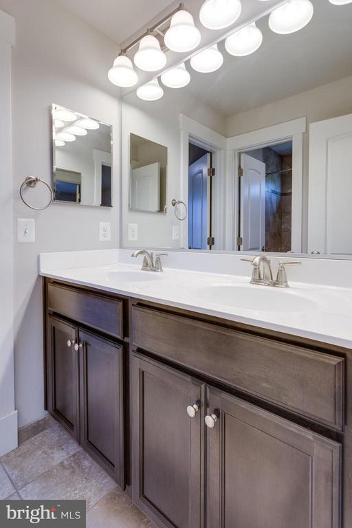Double Vanity Bathroom with medicine cabinets - 2050 ARCH DR, FALLS CHURCH