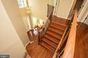 Foyer - upstairs view - 42422 CHAMOIS CT, STERLING
