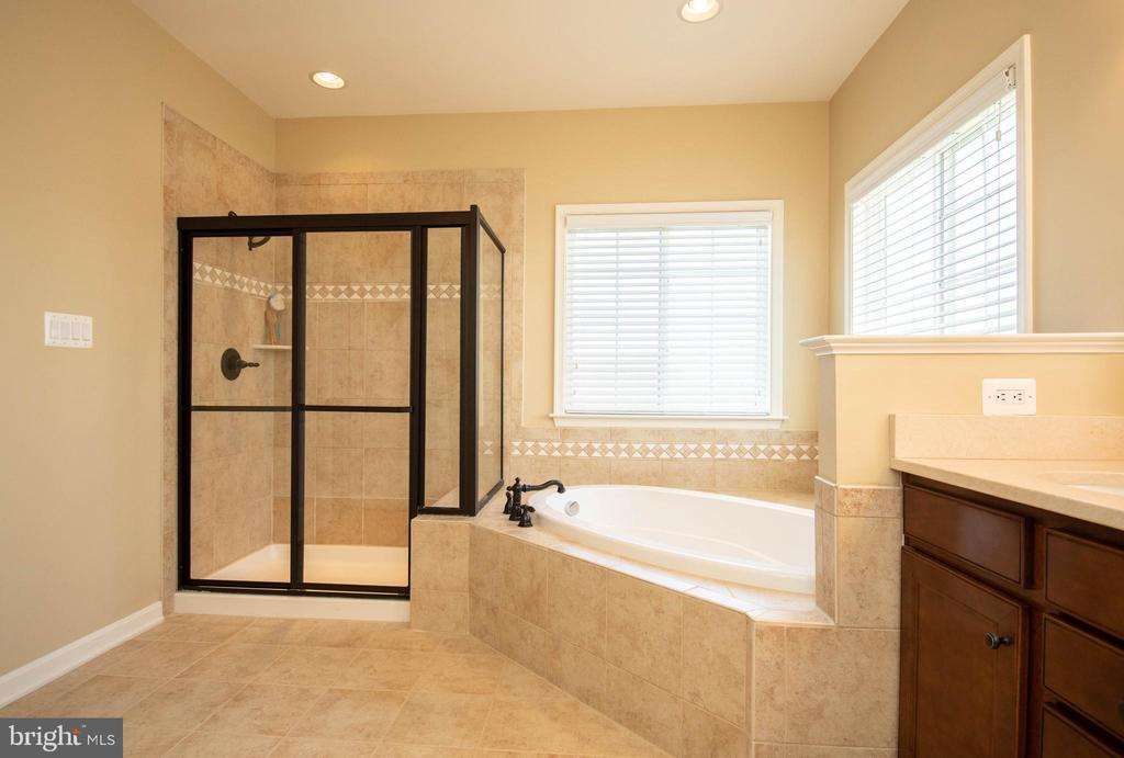 Master bathroom with shower stall - 42422 CHAMOIS CT, STERLING