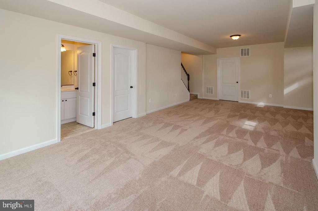 FINISHED REC ROOM WITH FULL BATH - 5 JACOBS HILL COURT, LEESBURG