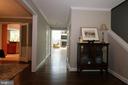At front door, dining room left, family room ahead - 10651 OAKTON RIDGE CT, OAKTON