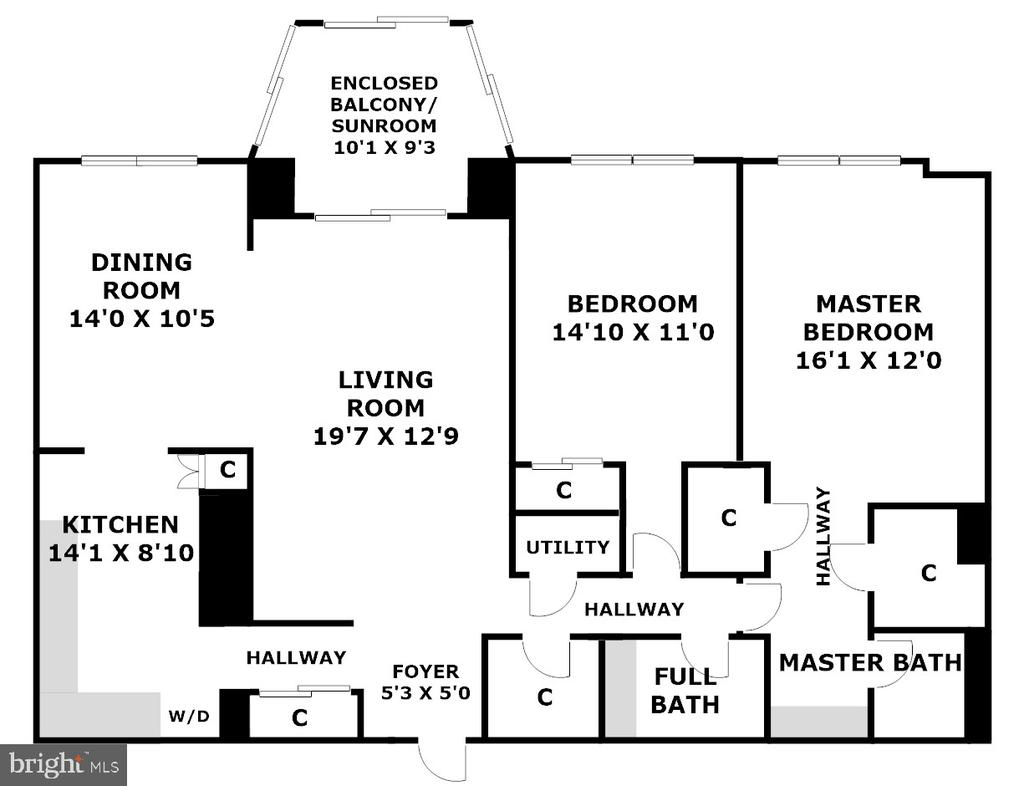 Floor Plan (Copyright Protected) - 5901 MOUNT EAGLE DR #1115, ALEXANDRIA