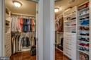 His and Hers closet organization built-in~s - 20668 DUXBURY TER, ASHBURN