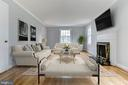 Living Room with Virtual Staging Example - 5135 34TH ST NW, WASHINGTON