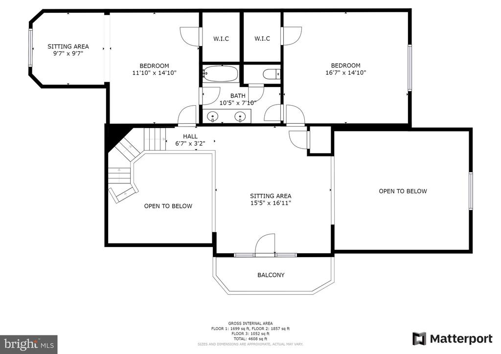 Upper Level Floor Plan - 3026 OLD ANNAPOLIS TRL, FREDERICK