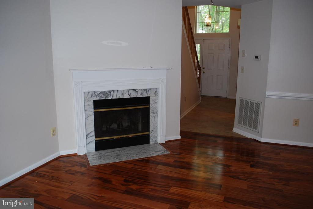 Living room fire place - 19928 DUNSTABLE CIR #204, GERMANTOWN
