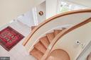 Curved staircase from second floor looking down - 6 LOUDEN LN, ANNAPOLIS