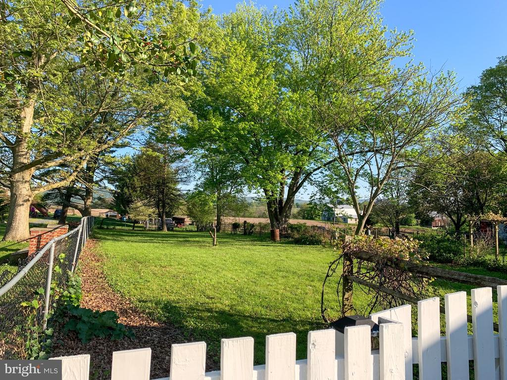 backyard and view of farmland - 3630 PETERSVILLE RD, KNOXVILLE