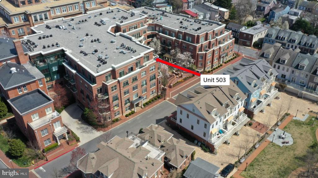 Aerial of the Unit Exterior - 66 FRANKLIN ST #503, ANNAPOLIS