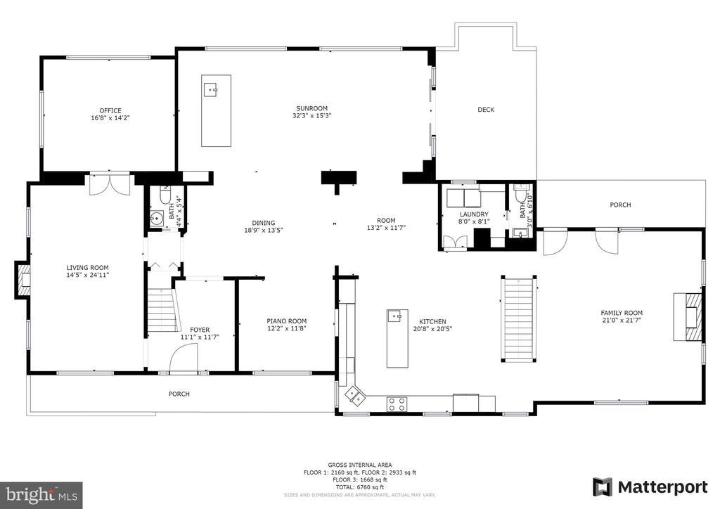 Main Level Floorplan - 7316 LACKAWANNA DR, SPRINGFIELD