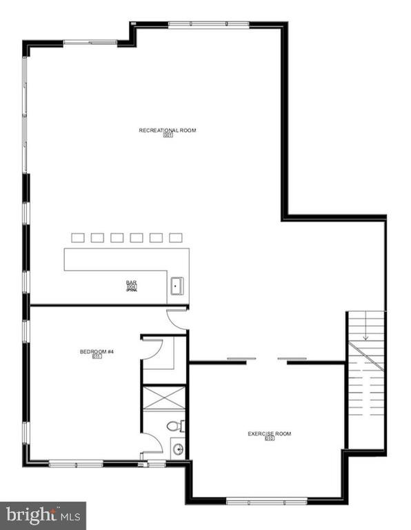 Alternative Floor Plan : Basement - 1100 LEIGH MILL RD, GREAT FALLS