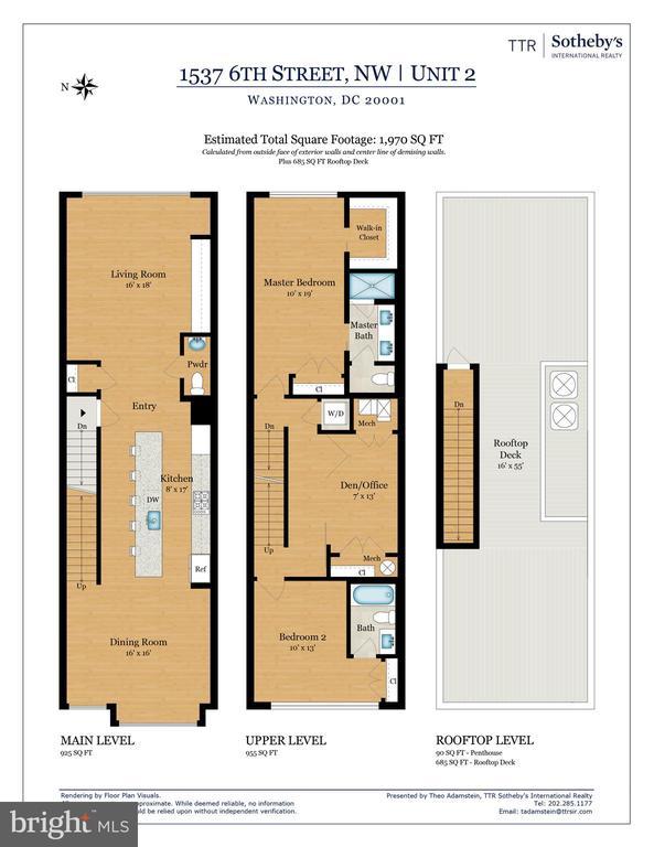 Floor Plan - 1537 6TH ST NW #2, WASHINGTON