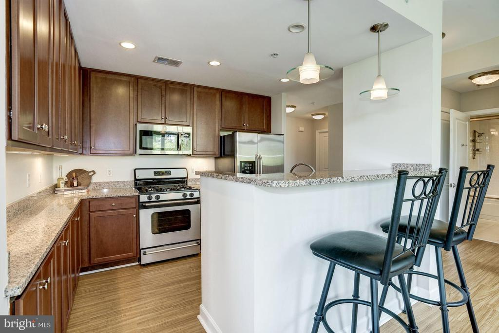 The open kitchen is great for entertaining - 1000 N RANDOLPH ST #310, ARLINGTON