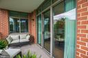 Large Private Balcony - 1000 N RANDOLPH ST #310, ARLINGTON