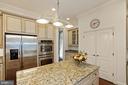 Chef's Designer Kitchen w/ SS GE Profile Appliance - 2976 TROUSSEAU LN, OAKTON