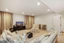 Recessed lighting in media room - 2976 TROUSSEAU LN, OAKTON