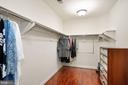 Spacious walk in closet for her - 2976 TROUSSEAU LN, OAKTON
