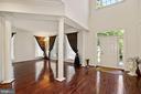 Brazilian cherry hardwood flooring with New paint - 2976 TROUSSEAU LN, OAKTON
