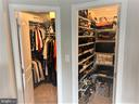Two Walk-In Closets in Master BR - 9410 GEATON PARK PL, LANHAM