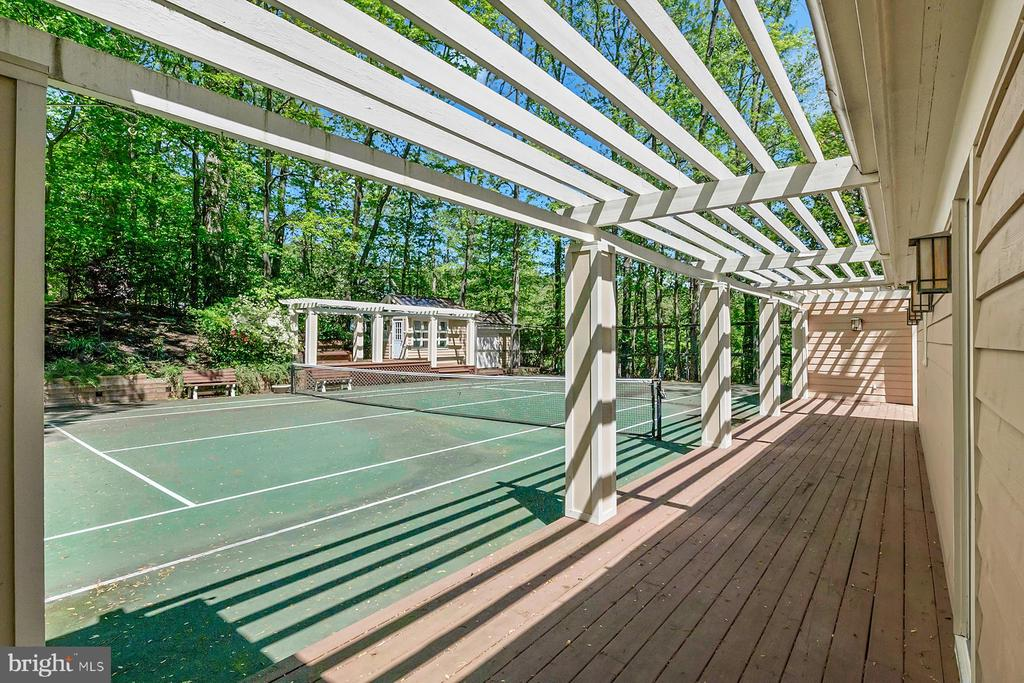 View from the house across the tennis court - 104 FOGLE DR, ANNAPOLIS