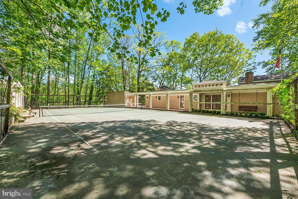 View across tennis court to home - 104 FOGLE DR, ANNAPOLIS