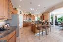 Large kitchen - 27531 PADDOCK TRAIL PL, CHANTILLY