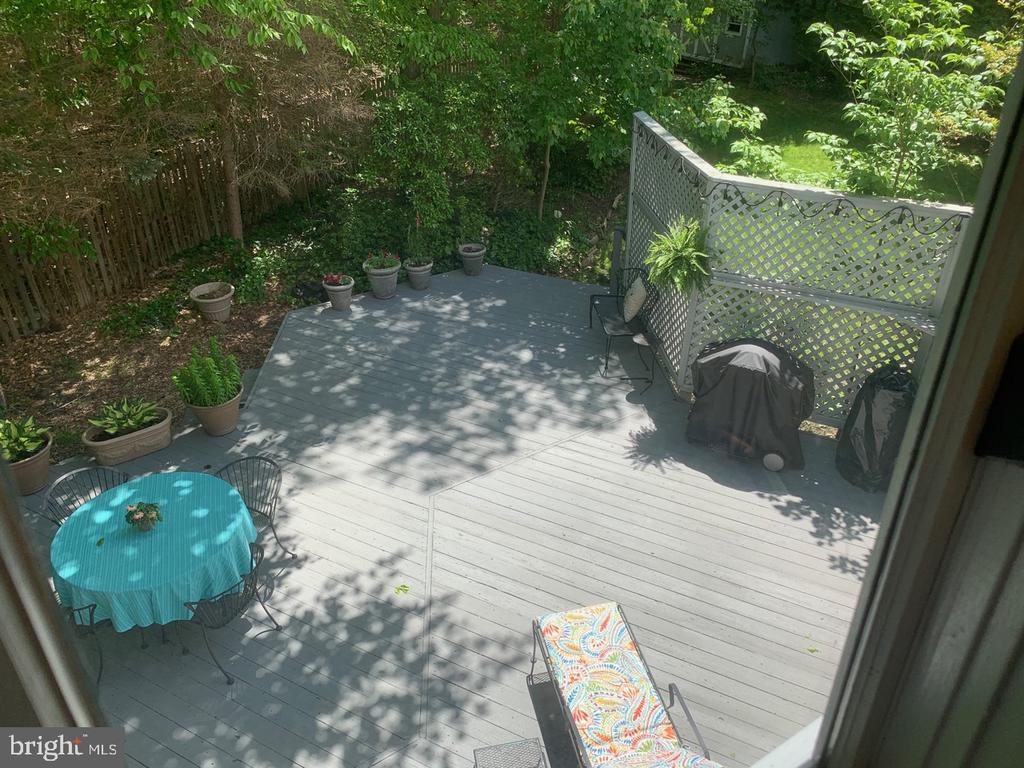 View of Deck from Upper Level - 8307 KINGS RIDGE CT, SPRINGFIELD