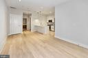 Spacious living area - 1745 N ST NW #103, WASHINGTON