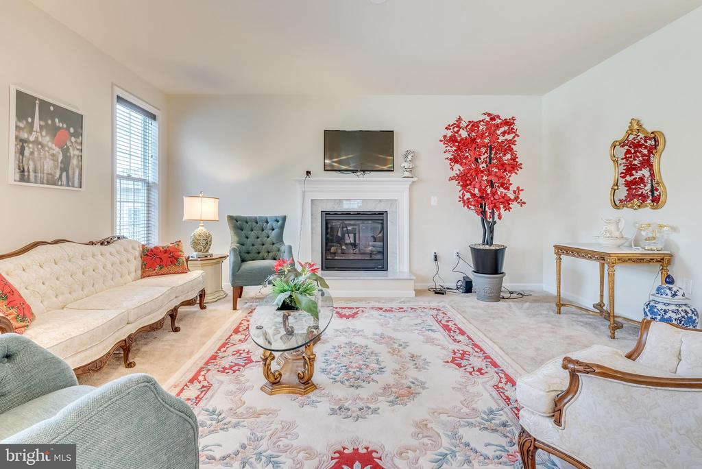 The stunning fireplace is a natural focal point - 440 FLIGHT O ARROWS WAY, MARTINSBURG