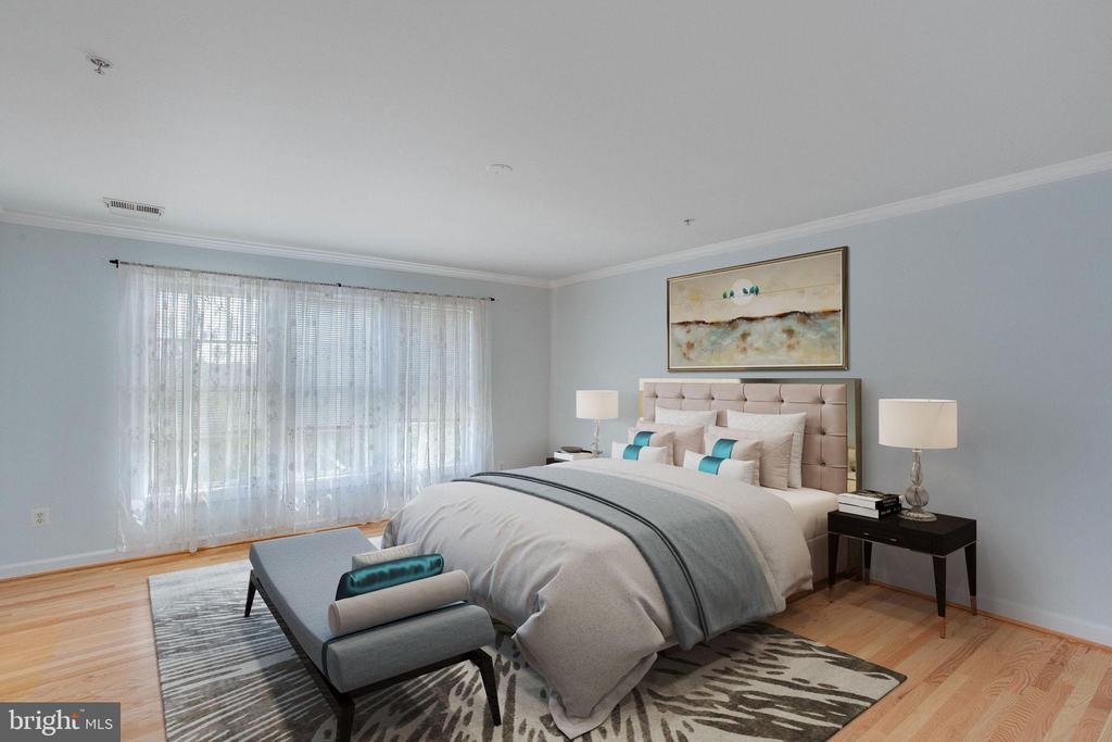 Virtually staged Master Bedroom - 43771 APACHE WELLS TER, LEESBURG