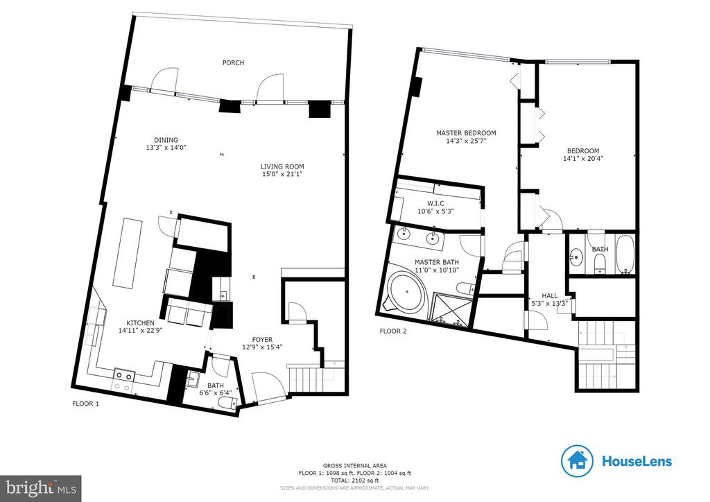 Floor Plan - 1300 CRYSTAL DR #PH14S, ARLINGTON