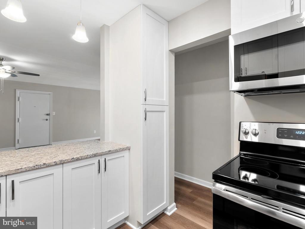 Granite counters and GE stainless appliances. - 201 N EMORY DR #7, STERLING