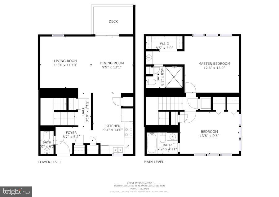 Floor Plan - Compilation - 1145 N UTAH ST #1145, ARLINGTON