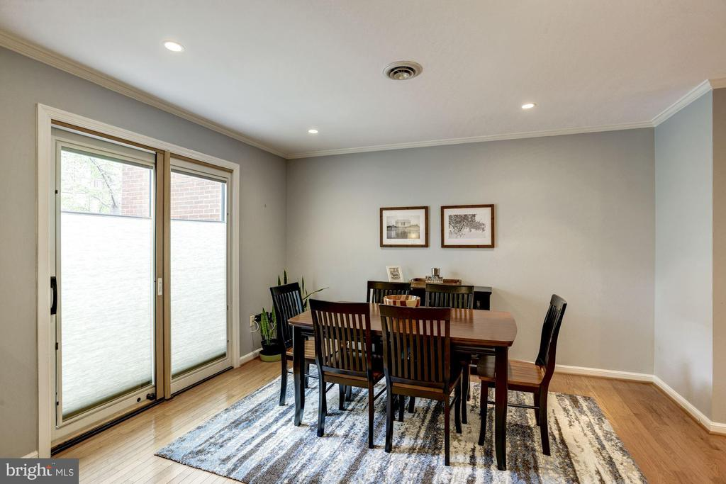 Dining Room - Hardwood Floors & Recess Lighting - 1145 N UTAH ST #1145, ARLINGTON