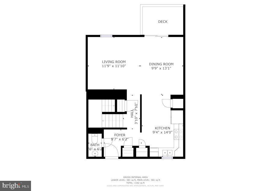 Floor Plan - Main Level - 1145 N UTAH ST #1145, ARLINGTON