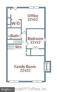 Lower Level Floor Plan - 6604 PERSIMMON TREE RD, BETHESDA