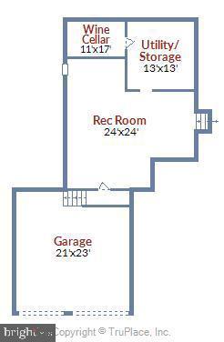 2nd Lower Level Floor Plan - 6604 PERSIMMON TREE RD, BETHESDA