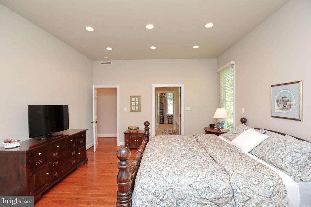Main floor master bedroom w/ recessed lighting - 9600 TERRI DR, LA PLATA
